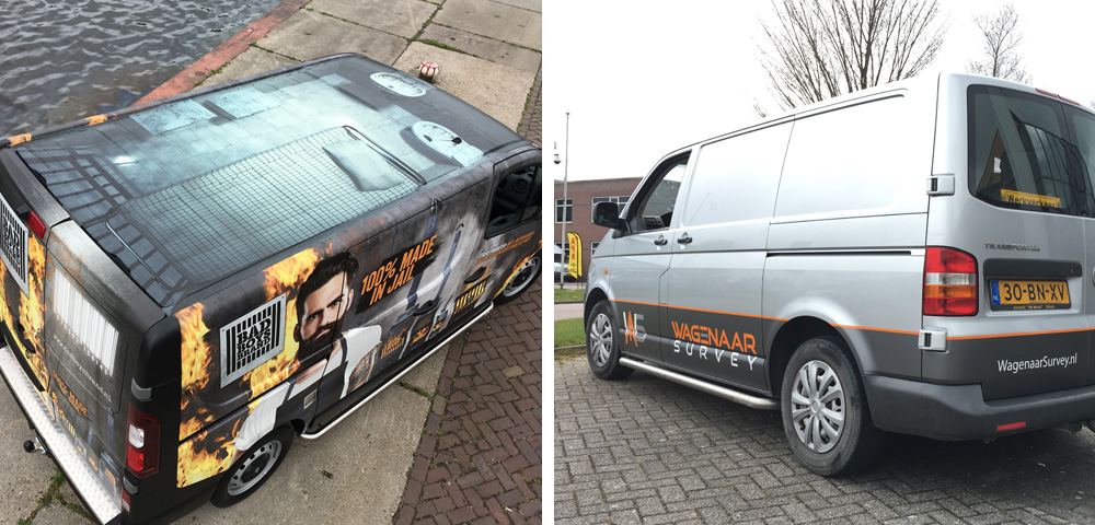Cross-Sign Allround Singmaker • Reclamemontage • Belettering • Carwrapping